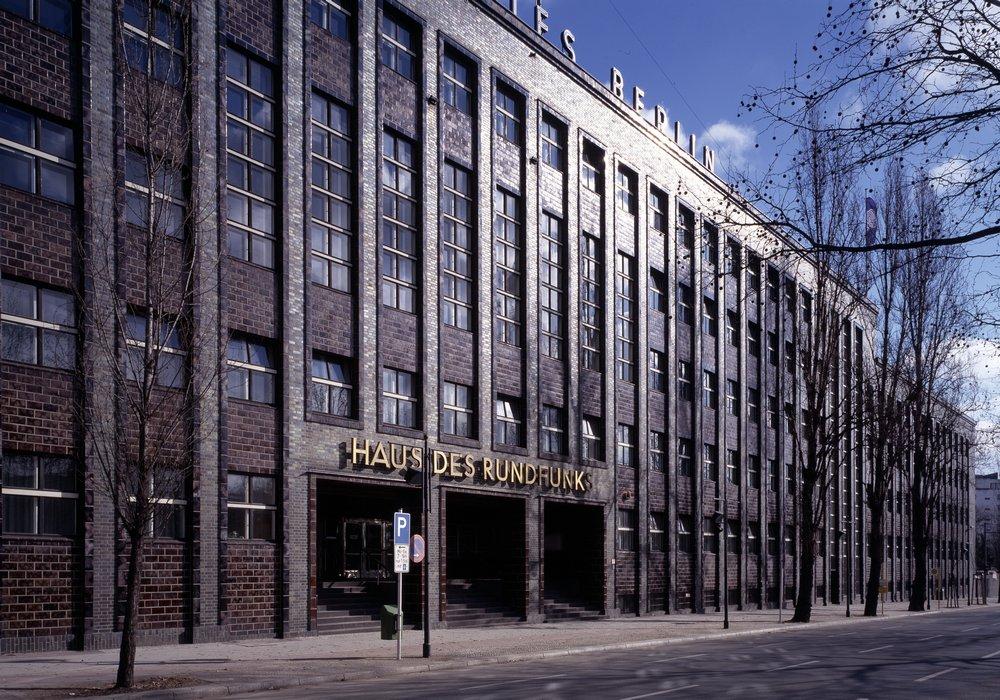 Berlin, Haus des Rundfunks, Fassade 1928-1931 (Foto: Florian Monheim)